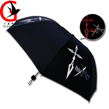 2017 new arrive Animation personality Man Change color umbrella 3 fold sun rain Umbrella male fashion rain umbrella  MJ-1