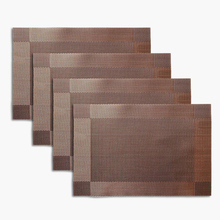 Wholesale ,Icarekit,4pcs PVC Placemats Dining Room Placemats Dinner Table Heat Insulation Mat(China)