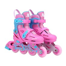 Unisex Children Skating Shoes Professional Single-row Roller Skates Shoes Adjustable Kids Inline Skating Shoes Perfect Gift(China)