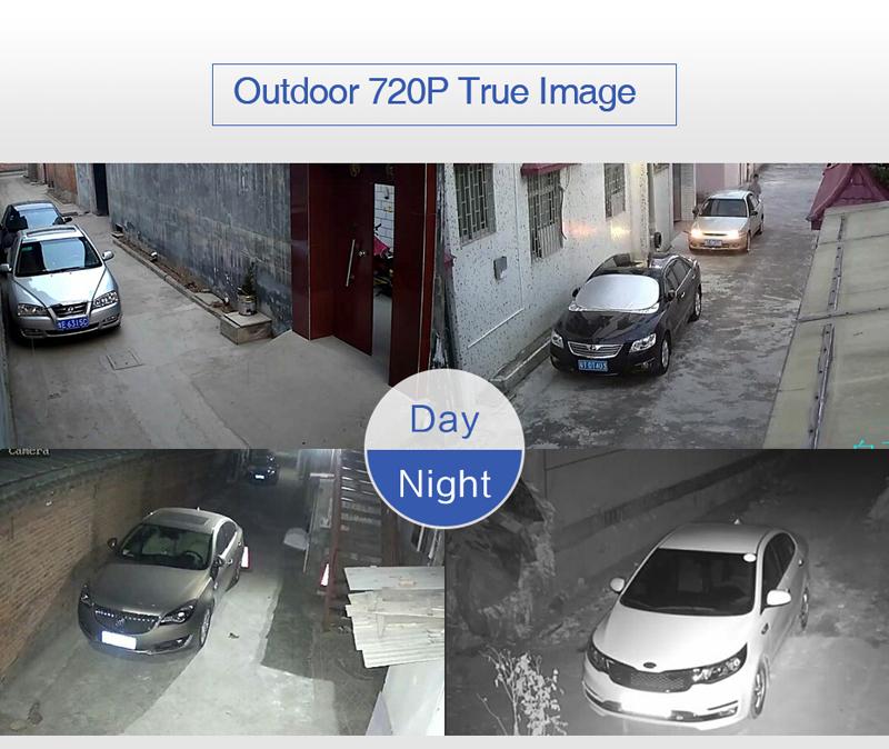 H.VIEW 8ch CCTV Surveillance Kit 4 Cameras Outdoor Surveillance Kit IR Security Camera Video Surveillance System DVR Kits (4)