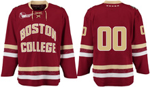 Boston College # Custom your name and number Stitched Hockey Jersey