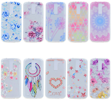 3D Relief Coque LG K10 Case Clear TPU Silicone Phone Case For LG K8 K10 Cover Floral Painted Case LG K10 Back Cover LGK10 Fundas(China)