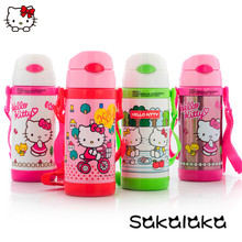 350ml Hello Kitty Children stainless steel cartoon insulation bottle water bottles wholesale