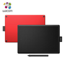 One by Wacom CTL-472 Digital Graphic Drawing Tablet Pad 2048 Pressure Level Small Size (black-red color)(China)