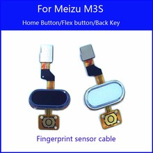 100% New For Meizu M3S Home Button Flex Cable Replacement For Meizu M3S Mini Phone Back Key Parts High Quality Accessory Bundles