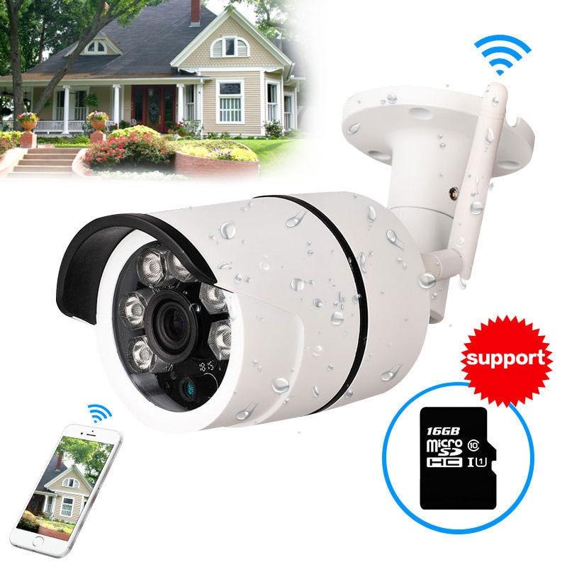 CCTV Outdoor Waterproof Bullet IP Camera Wifi Wireless Surveillance Camera support TF Card  CCTV Camera Night Vision<br>