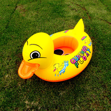 1Pcs Duck Design Kids Baby Child Inflatable Swimming laps Pool Swim Ring Seat Float Boat Water Sports(China)