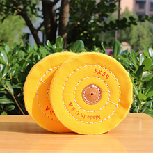 5'' 100mm Yellow Sawing Cloth Polishing Wheel for Various Glazing Machine to Buffing Metals & Grinding Crystal 50 Floors Covers