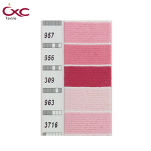 CXC(CXC) embroidery-thread,cross stitch thread,8m per piece in high color fastness ,Specify five colors thread six strands,pink