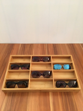 Bamboo Wood Glasses Display Box Jewelry Stand Holder Storage Case Retro Trend Fashion High-end Glasses Display Supplies Rack