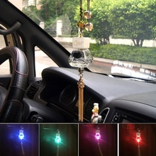 Car perfume pendant Empty bottle RGB led light Car Air Freshener colorful crystal handmade Tassels For Hunydai solaris accent