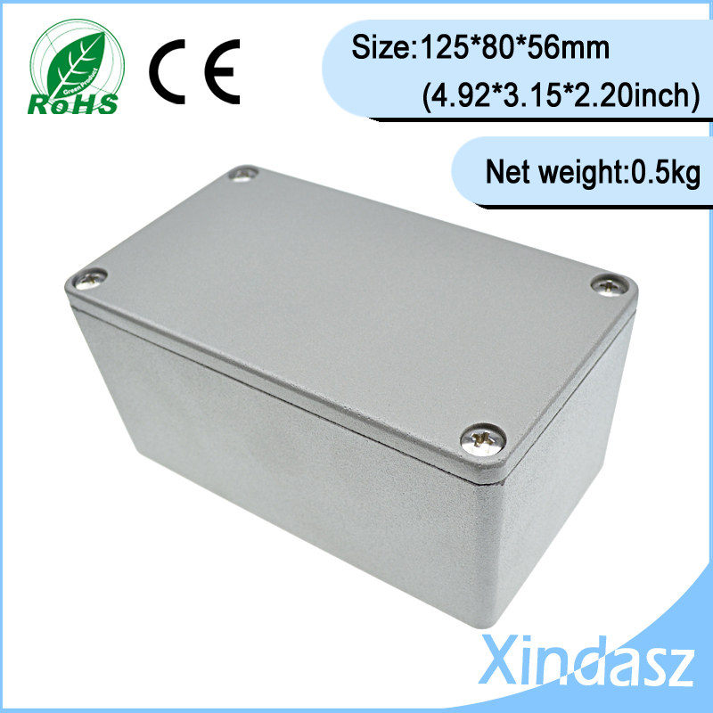 (XD-FA2-1)120*80*56mm project  electronic enclosures aluminum die casting enclosure<br>