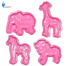 Btand New 4Pcs/Set 3D Animal Dough Cutters Cake Decorating Tool Biscuit Cake Mold Fondant Cutter Mini Bakeware Pastry Tools(China)