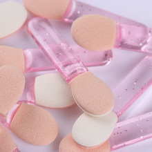 1 Bag Double-sided Sponge Heads Mirror Powder Brush Shade Gradient Pen Manicure Nail Art Tools 4 Colors Available(China)