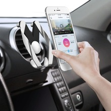Universal M Car Mobile Phone Holder Vent ABS Air Outlet Car-styling Car Phone Stand Adjustable Vehicle Mount For iPhone Samsung(China)