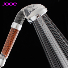JOOE Water saving Shower Heads Round Handheld Anion SPA bath shower head Filter water Spray nozzle duche Bathroom accessories