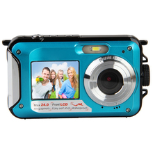 Top Deals Dual Screen Digital Camera 2 Screens with 16GB Micro SD Card (double screen blue+16GB TF card) blue/red