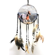 Hot Sales Cheap High Quality Handmade Dream Catcher with Feathers Car Home Wall Hanging Decoration(China)