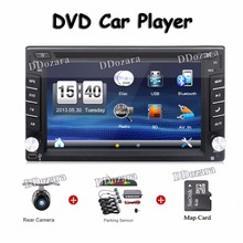 2din car stereo systems Double din dvd player for car gps navigation In dash Car PC Stereo Head Unit video+Free Map Card Parking