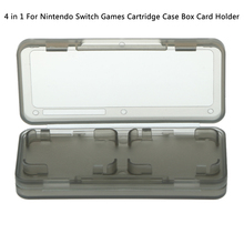 4in1 Memory Card Holder Cassette Game Card Case Transparent Protector Carry Storage Box Organizer for Nintendo Switch Console