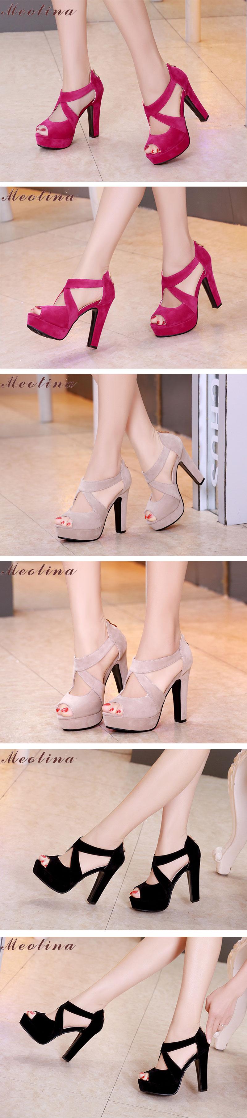 New Women's Platform Sandals, Shoes Cross Strap, High Heel Sandals 15