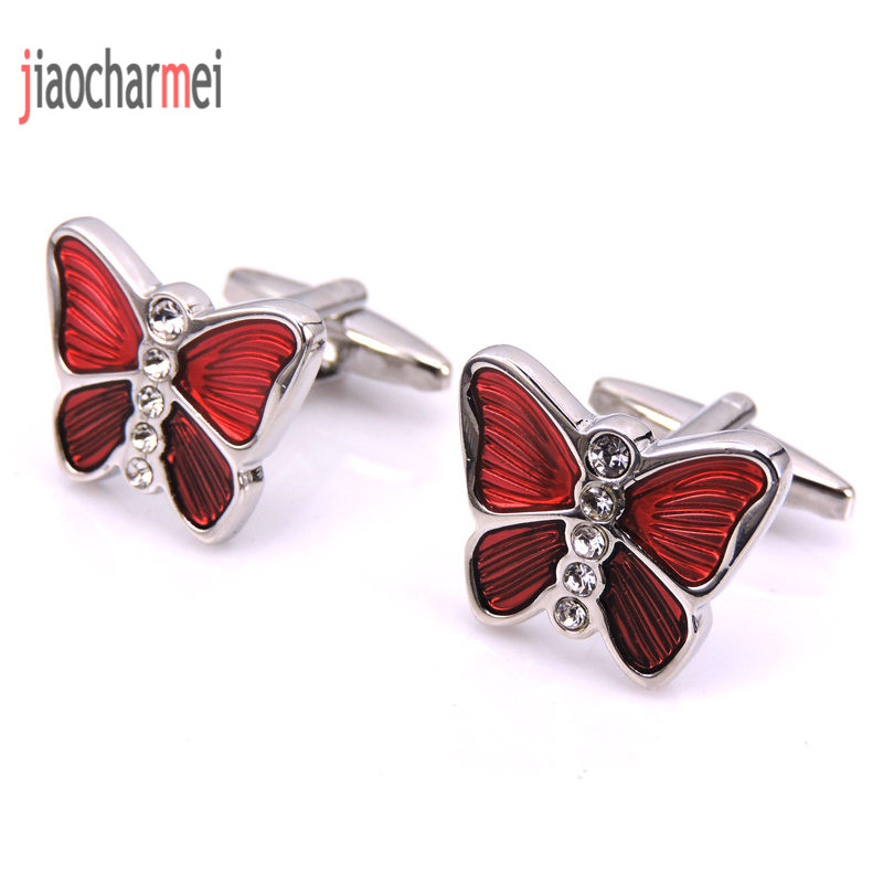 JM high quality men's fashion boutique brand Cufflinks beautiful crystal butterfly cufflinks, French shirt clothing accessories
