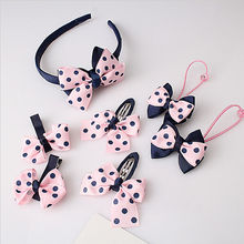 7Pcs/set Kid Girl Infant Baby Headband Bow Flower Hair Band Accessories Headwear Wholesale/ratil(China)