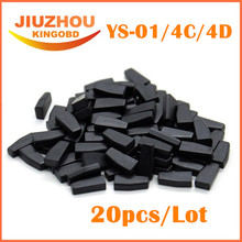 20pcs/Lot universal chip = YS-01 / CN1 / CN2 / 4C / 4D Chip working for CN900/nd900 Transponder chip free shipping