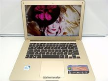 14 inch Laptop Computer Notebook Windows 7/8 Quad Core 4G 750G HDD Wifi Webcam Portable Netbook PC Gold with Free Shipping