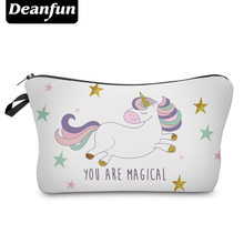 Deanfun Unicorn Cosmetic Bags 3D Printed Star 2017 New Fashion Female Makeup Organizer Storage with Zipper 50946(China)