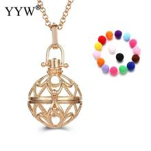 YYW Lovely Round Shape Perfume Aromatherapy Pendant Essential Oil Diffuser Pregnant Ball Locket Cage Pendant Women's Gift