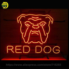 Neon Sign For Red Dog Arrow Hot Dogs Circle Hamburgers Hot Delicious One Day Vacuum Service Zone King Circle Real Glass Tube