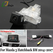 Laijie Backup Camera With Adapter Cable For Mazda 3 Mazda3 Hatchback BM 2014~2017 / Original Screen Compatible Rear View Camera(China)