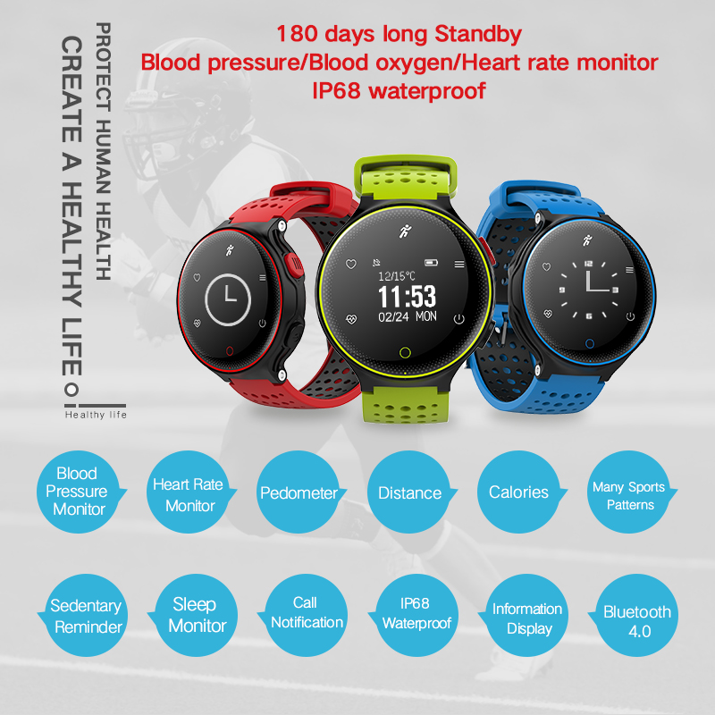 X2 Smart Watch IP68 Waterproof 4.0 Bluetooth 0.96 Inch Blood Pressure Tracker Heart Rate Sleep Monitor For Android IOS (8)