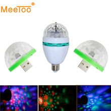 Voice Control RGB LED Stage Lamps Crystal Magic Ball Laser Stage Effect Light Party Disco Ball Club DJ Lights for KTV Chrismas