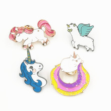 Timlee X158 Free shipping Cute Rainbow Animal Kitty Cat Brooch Pins,Chic Fashion Jewelry Wholesale(China)