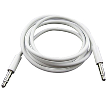3.5mm Male to Male AUX Audio Cable white(China)