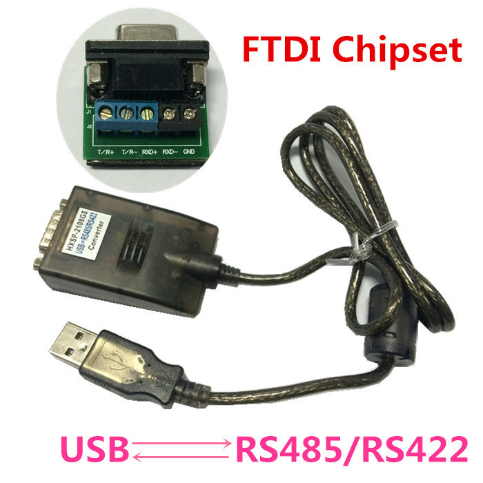 High Quality 1PCS USB 2.0 to RS485 RS422 RS-485 RS-422 DB9 Serial Port Device Converter Adapter Cable, FTDI FT232 FT232R FT232RL<br>