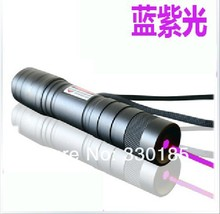 1w 1000mw 405nm mini violet blue laser pointers/ focusable burning purple laser Burn Matches & Light Cigarettes+Charger+Gift Box