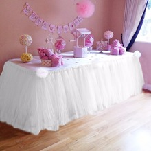 100x80cm Table Skirt Birthday Table Skirt Birthday Party Supplies Birthday Decoration(China)