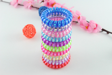Cheap Telephone Line Gum mix Colored Elastic Hair Band For Girl Rope Jewelry Accessories Springs Hair rope(China)