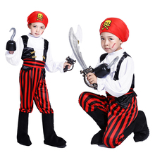 Free shipping Halloween costume pirate captain South Africa Little Pirate costume for boys masquerade costumes
