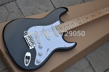 Wholesale HOT SALE black Stratocaster Eric Clapton Signature Maple fingerboard 6 Strings Electric Guitar free shipping(China)