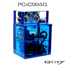 QDIY PC-C004Q Transparent Acrylic Water-cooling Horizontal Computer Case(China)