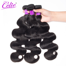 Celie Brazilian Body Wave Hair Weave Bundles 10-28 Inch Remy Hair Extension Natural Color Can be Dyed 100% Human Hair Bundles(China)