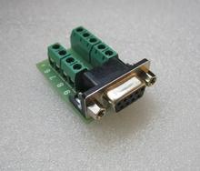 Female RS232 turn terminals DB9 connector Adapter Signals Terminal Module