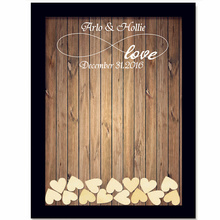 Rustic Wedding Guest Book with 120pcs Small Hearts Wedding Decoration(China)