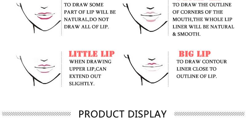 Magical Halo 12pcs/set Pro Waterproof Bright Pencil Lip Liner Pencil Makeup Cosmetic For Lips Long Lasting Lipliner Pen Lipliner 19