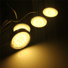 Big Promotion 4pcs Home Kitchen Led Under Cabinet Lighting 48 LED SMD Energy Saving Lights Lamp Bulb 110-240V(China)