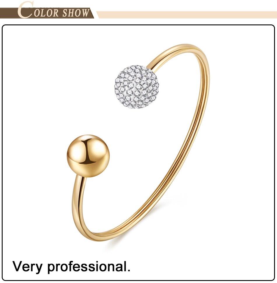 Gold Bracelets Bangles Stainless Steel (2)